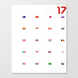 Calendar F1 2017 circuits Canvas Print