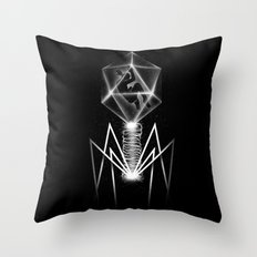 Bacteriophage Throw Pillow