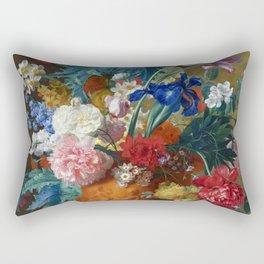 "Jan van Huysum ""Flowers in a Terracotta Vase"" Rectangular Pillow"