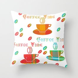 Coffee Time by justrachna Throw Pillow
