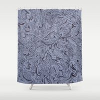 doodle Shower Curtains featuring doodle by eckoepp