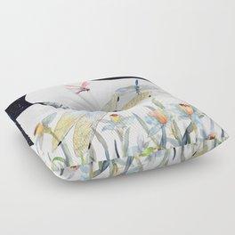 Good Night Surreal Dragonfly Artwork Floor Pillow