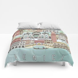 Venice City Poster Comforters