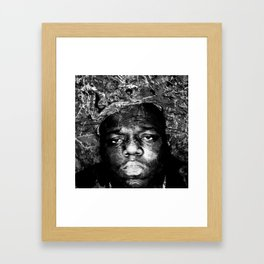 BIGGIE (BLACK & WHITE VERSION) Framed Art Print