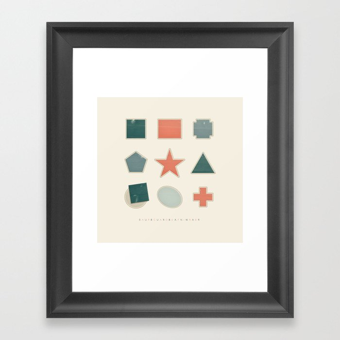 Suburban War Framed Art Print