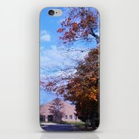 college iPhone & iPod Skins featuring College by Vickyyyy