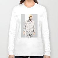 steve mcqueen Long Sleeve T-shirts featuring Steve McQueen by drawgood