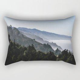 Blue Valley view Rectangular Pillow