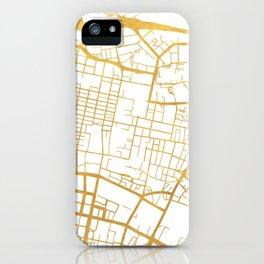 GLASGOW SCOTLAND CITY STREET MAP ART iPhone Case