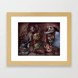 """""""Heads Vomit Heads"""" Framed Art Print"""