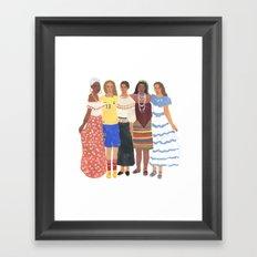 Ecuadorian Girls Framed Art Print