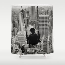 Playground Swings by GEN Z Shower Curtain
