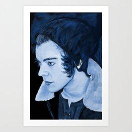 Blue Painting of Harry Styles Art Print