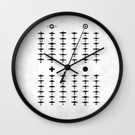 How To Identify Warplanes Wall Clock