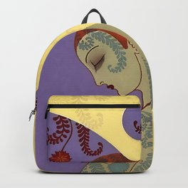 "Art Deco Illustration ""Golde Bubbles"" Backpack"