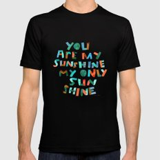 My Only Sunshine Mens Fitted Tee MEDIUM Black