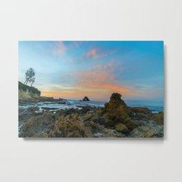 Tidepool Sunrise at Arch Rock Metal Print