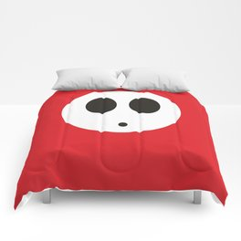 SHY GUY (RED) Comforters