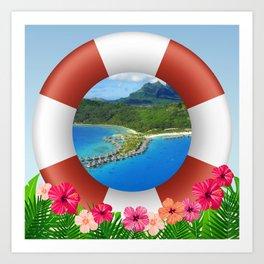 Bora Bora Island Dream Art Print