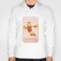 ironman Hoodies featuring Ironman by Popol