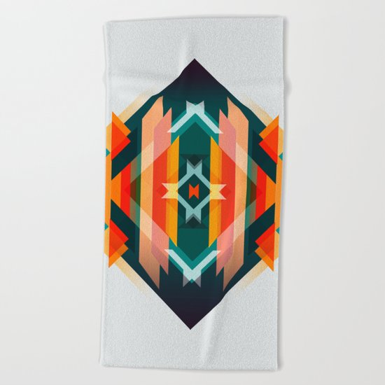 Broken Diamond - Incalescence Beach Towel