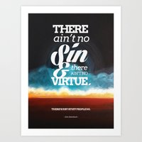 Ain't No Sin Art Print