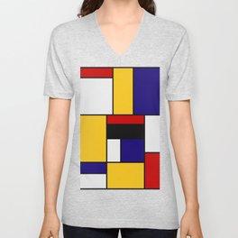 Mondrian De Stijl Art Movement Unisex V-Neck