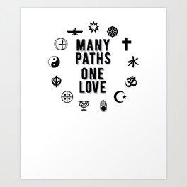 Many Paths One Love, Unitarian Universalist Gift Art Print