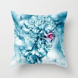 Frozen Skull Throw Pillow