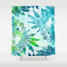 Tropical adventure - Blue Shower Curtain