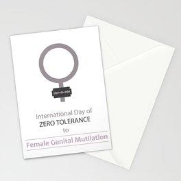 International day of ZERO TOLERANCE to female genital mutilation Stationery Cards