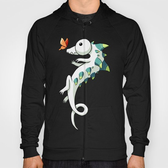 Crocodile and a Butterfly Hoody