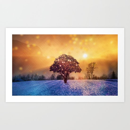 Miracle Tree in Frozen Tundra, Home Decor, Scenic Wall Art, Winter ...