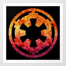 Star Wars Imperial Explosion Art Print