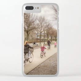 Winter Scene People at Park, Lucca, Italy Clear iPhone Case