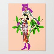 Girl in Utamaro Dress Canvas Print