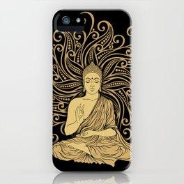 Mandala Golden Buddha iPhone Case