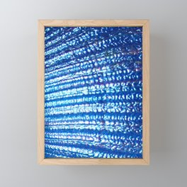 Ocean Fanatasy Blue Seashell Texture Framed Mini Art Print