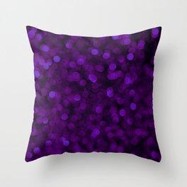 Purple Ultra Violet Glitter Bokeh Glam Pattern Throw Pillow