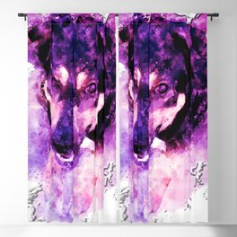 dog 3 perfect purple Blackout Curtain