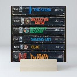 Stephen King Well-Worn Paperbacks Mini Art Print