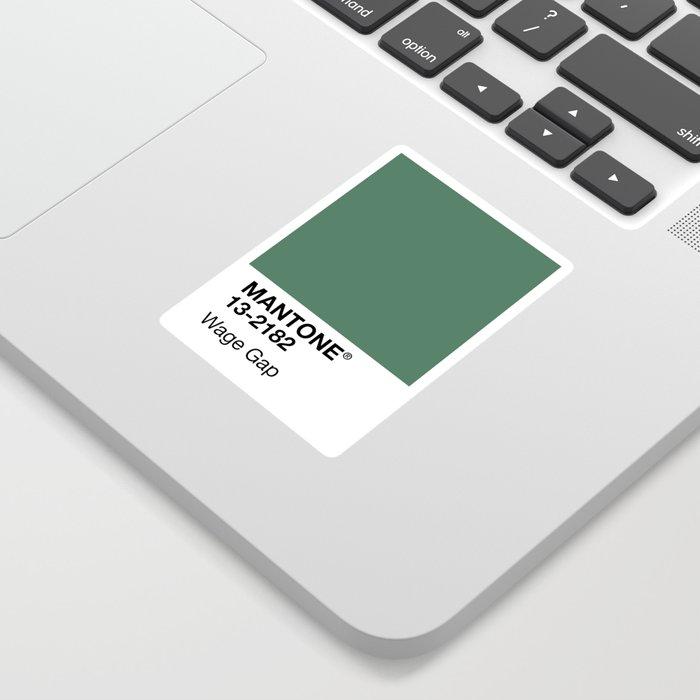 MANTONE® Wage Gap Sticker