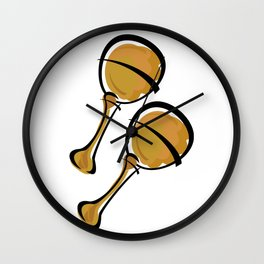 Maracas Wall Clock