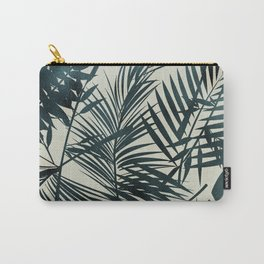 Elegant Palm Leaf Pattern Carry-All Pouch