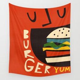 Yum Burger Wall Tapestry