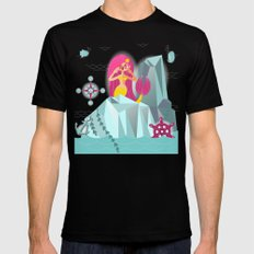 Mermaid's Call Mens Fitted Tee Black SMALL