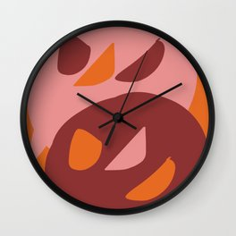 Two little monsters graphic design characters Wall Clock