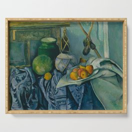"Paul Cezanne ""Still Life with a Ginger Jar and Eggplants"" Serving Tray"