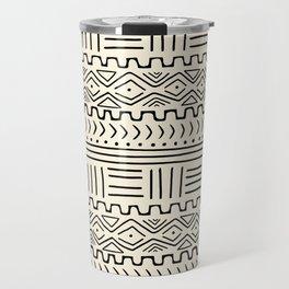 Mud Cloth on Cream Travel Mug