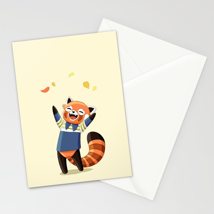Red Panda 2 Stationery Cards